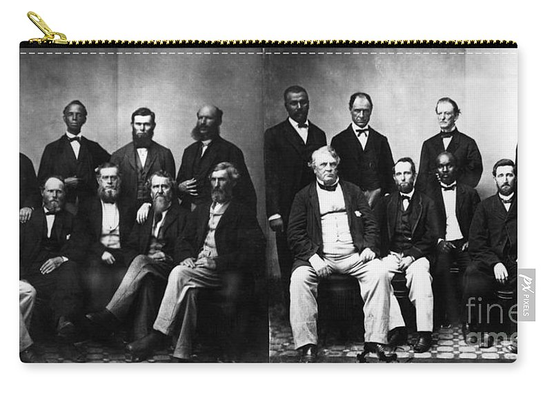 1868 Carry-all Pouch featuring the photograph Jefferson Davis Trial by Granger