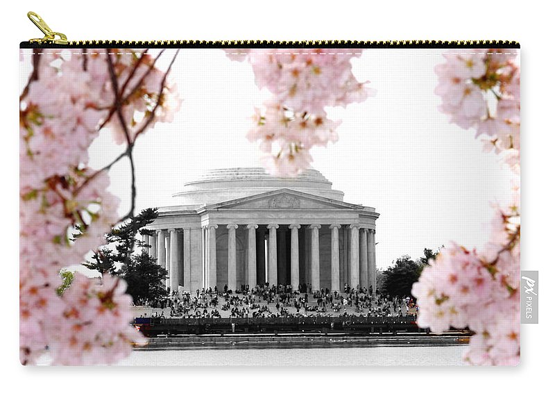 Jefferson Carry-all Pouch featuring the photograph Jefferson In Spring by Tina Meador