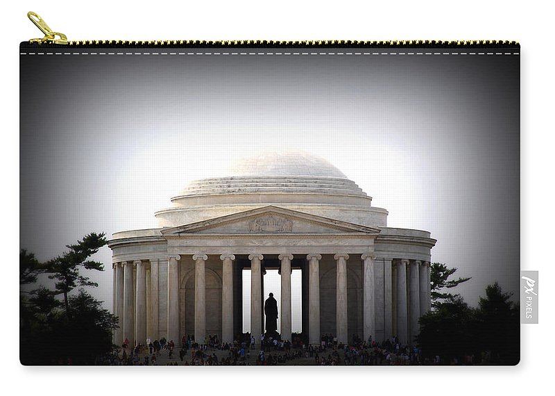 Jefferson Carry-all Pouch featuring the photograph Jefferson Memorial by Tina Meador