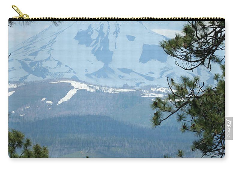 Mount Jefferson Carry-all Pouch featuring the photograph Jefferson Pines by Laddie Halupa