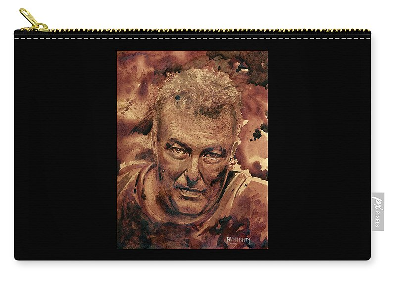 Jello Biafra Carry-all Pouch featuring the painting Jello Biafra - 1 by Ryan Almighty