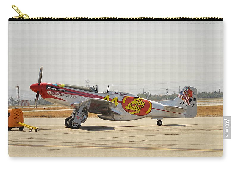 North American P-51d Mustang Carry-all Pouch featuring the photograph Jelly Belly Pony by Tommy Anderson