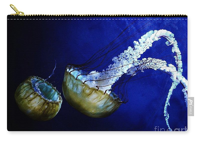 Jelly Fish Carry-all Pouch featuring the digital art Jelly Fish by Ron Bissett