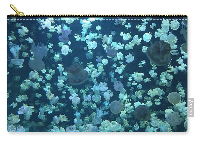 Jellyfish Carry-all Pouch featuring the photograph Jellyfish Collage by Kyle Harris