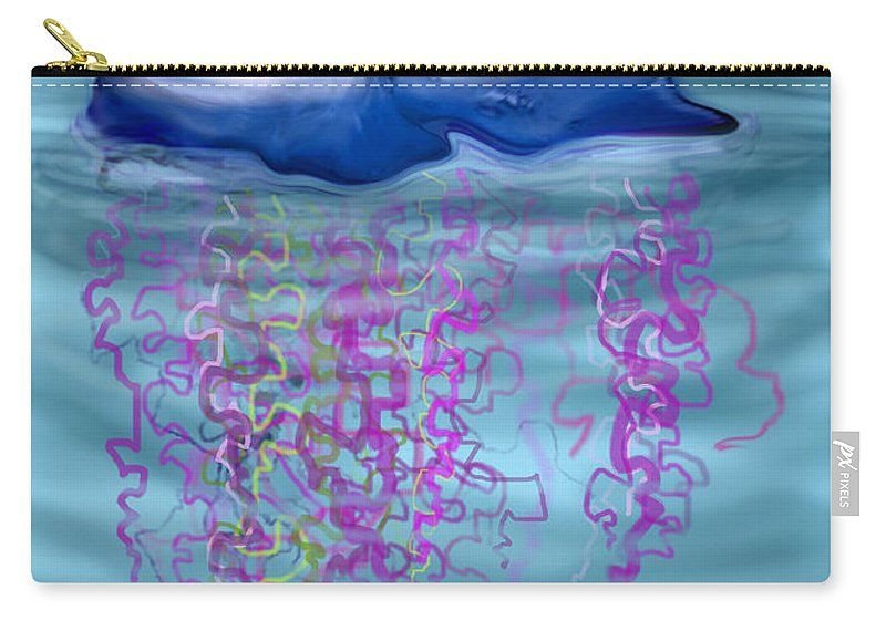 Jellyfish Carry-all Pouch featuring the greeting card Jellyfish by Kevin Middleton