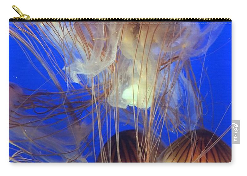 Jellyfish Carry-all Pouch featuring the photograph Jellyfish by Kyle Harris