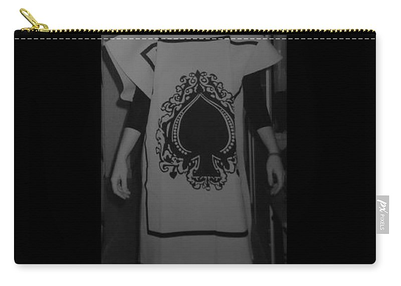 Ace Of Spades Carry-all Pouch featuring the photograph Jen Of Spades by Rob Hans