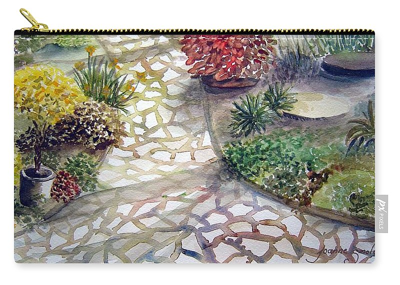 Garden Path Plants Carry-all Pouch featuring the painting Jennifers Garden by Joanne Smoley