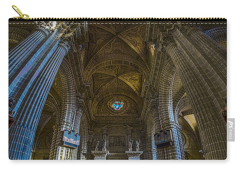 12mm F2 Carry-all Pouch featuring the photograph Jerez De La Frontera Cathedral Dome From Inside Cadiz Spain by Pablo Avanzini