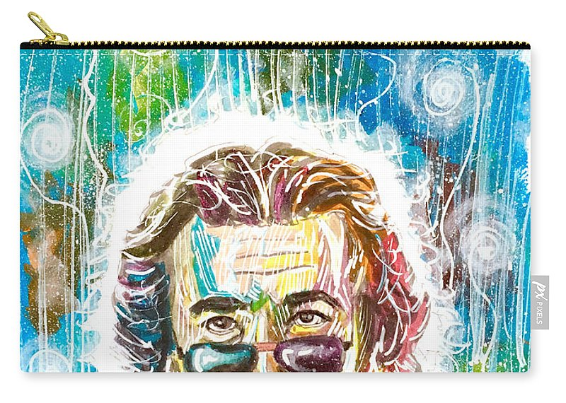 Grateful Dead Carry-all Pouch featuring the painting Jerry Garcia by Joel Tesch