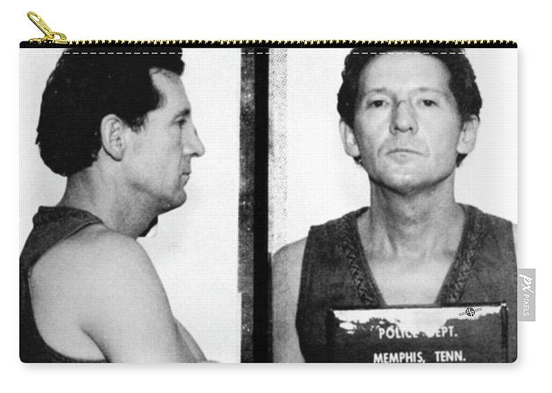 Jerry Lee Lewis Carry-all Pouch featuring the photograph Jerry Lee Lewis Mug Shot Horizontal by Tony Rubino