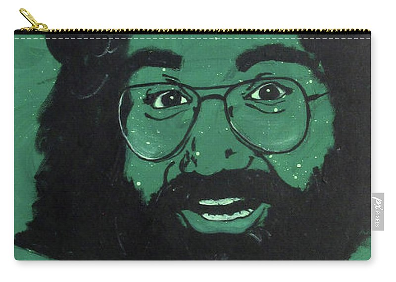 Grateful Dead Carry-all Pouch featuring the painting Jerry by Sara Becker