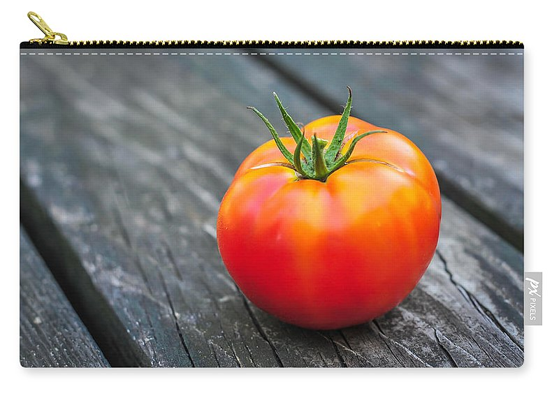 Terry Deluco Carry-all Pouch featuring the photograph Jersey Fresh Garden Tomato by Terry DeLuco