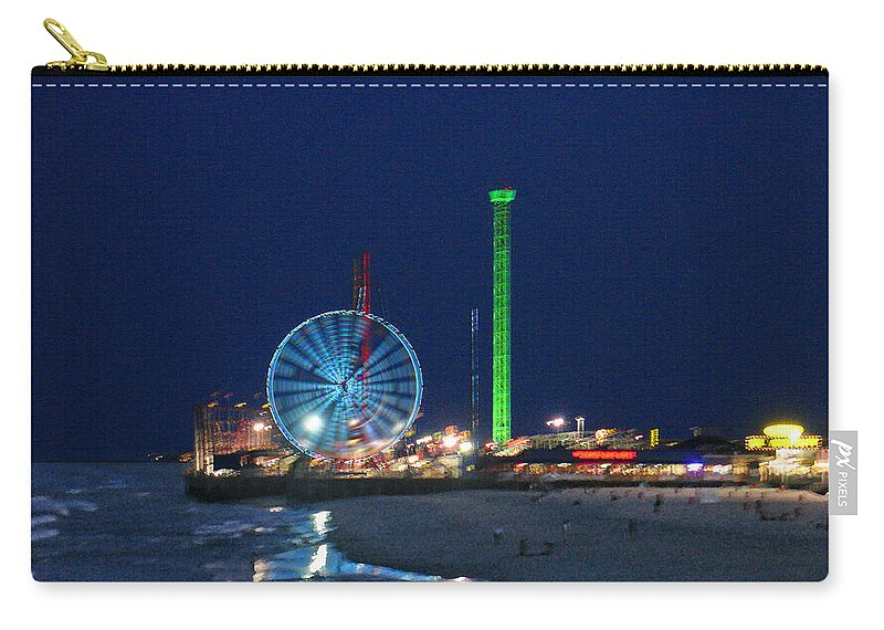 Landscape Carry-all Pouch featuring the digital art Jersey Shore by Steve Karol