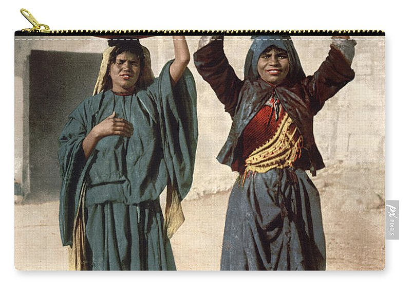 1895 Carry-all Pouch featuring the photograph Jerusalem: Milk Seller by Granger