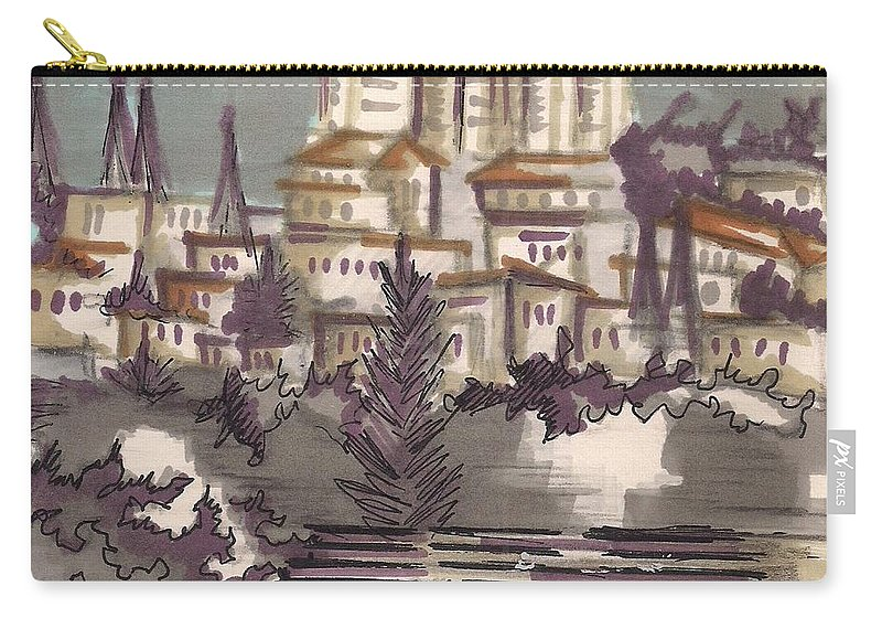 Carry-all Pouch featuring the painting Jerusalem by Popa Andreea