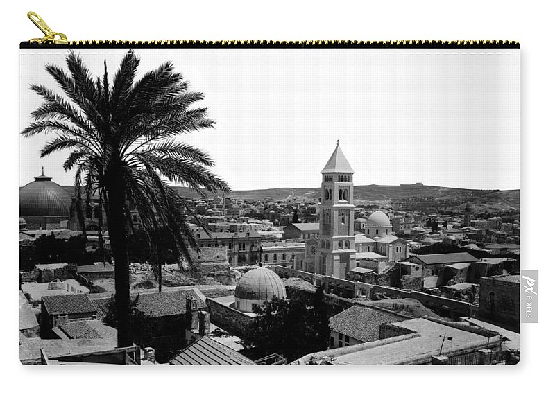 Jerusalem Carry-all Pouch featuring the photograph Jerusalem View From The Southwest by Munir Alawi