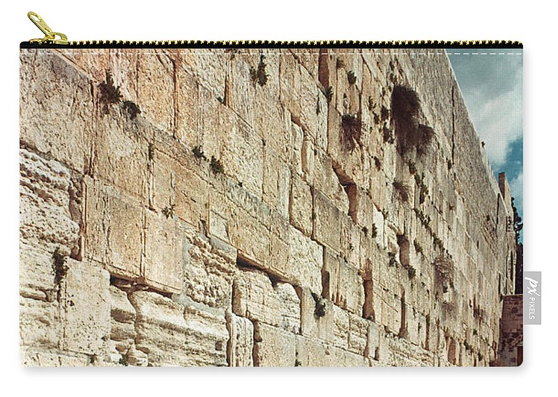 20th Century Carry-all Pouch featuring the photograph Jerusalem Wailing Wall - To License For Professional Use Visit Granger.com by Granger