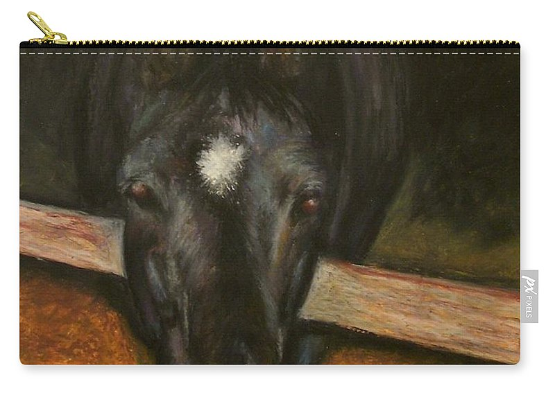 Horse Carry-all Pouch featuring the painting Jesse by Frances Marino