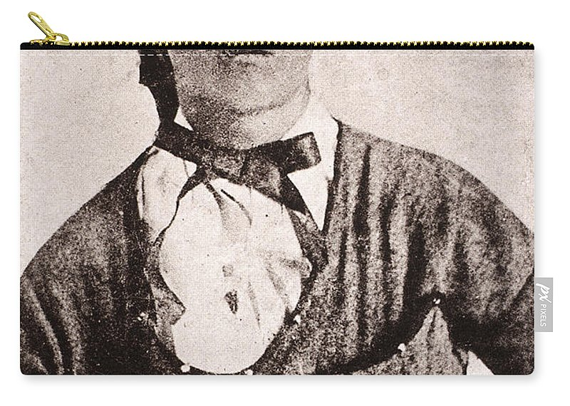 1873 Carry-all Pouch featuring the photograph Jesse James (1847-1882) by Granger