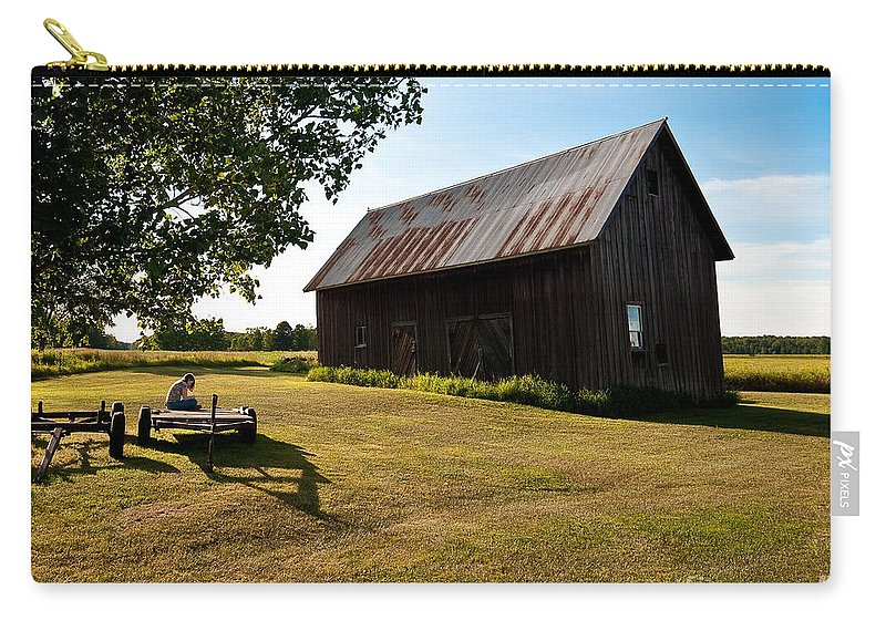 Barn Carry-all Pouch featuring the photograph Jesse's World by Steven Dunn