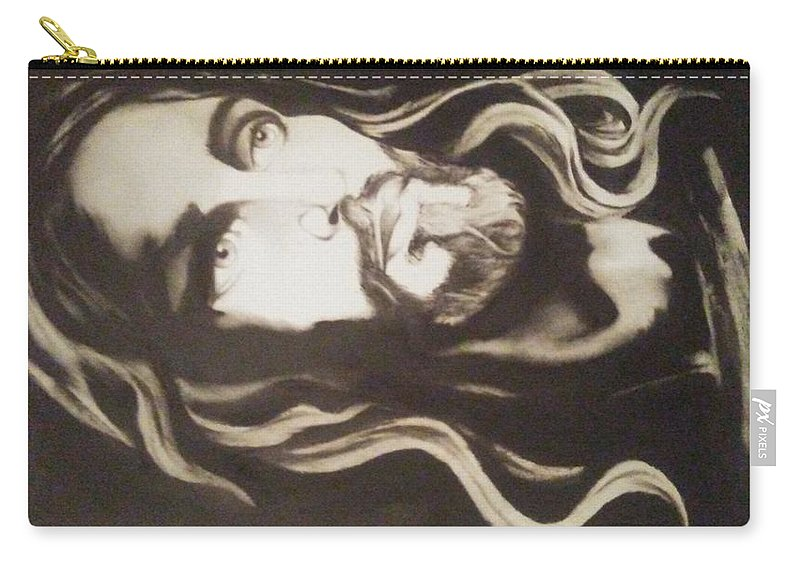 Jesus Christ Carry-all Pouch featuring the painting Jesus Christ by David Gafford