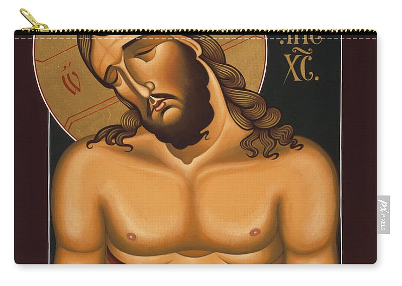 Jesus Christ Extreme Humility Carry-all Pouch featuring the painting Jesus Christ Extreme Humility 036 by William Hart McNichols