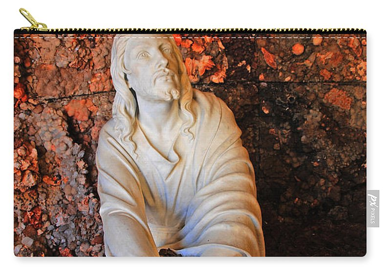 Jesus Christ Carry-all Pouch featuring the photograph Jesus Christ by Susanne Van Hulst