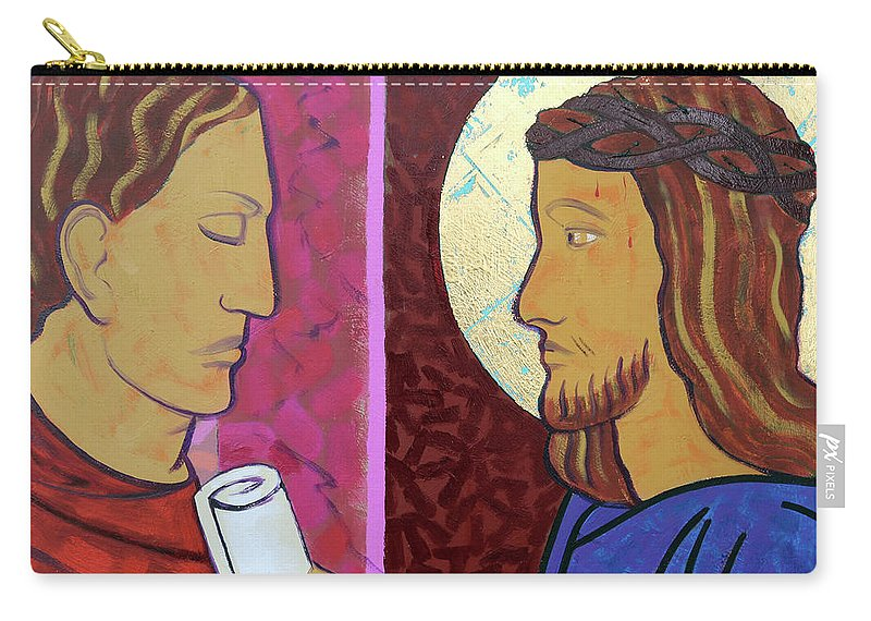 Jesus Carry-all Pouch featuring the painting Jesus Is Condemned by Sara Hayward