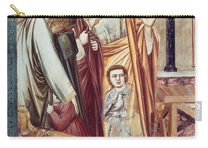 1304 Carry-all Pouch featuring the photograph Jesus & Moneychanger by Granger