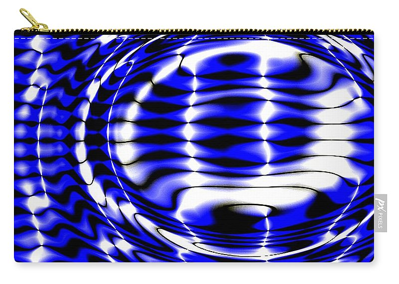 Shiny Carry-all Pouch featuring the digital art Jet Blue by Robert Orinski