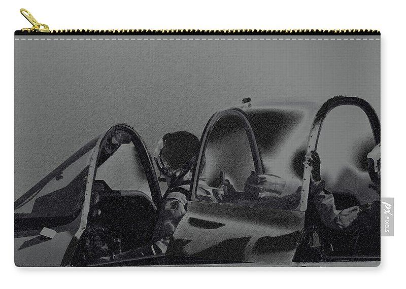 Military Carry-all Pouch featuring the photograph Jet Pilots by Karol Livote