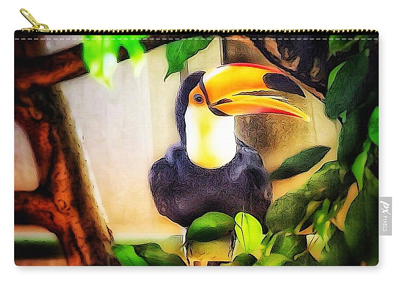 Tooncamera Carry-all Pouch featuring the photograph Jewel Of The Amazon Toco Toucan by Yutaka Mori