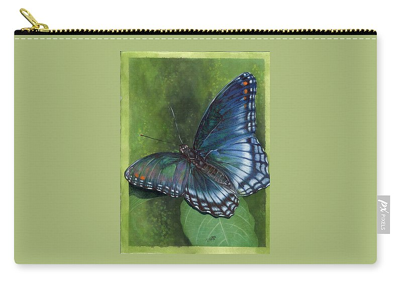 Insects Carry-all Pouch featuring the mixed media Jewel Tones by Barbara Keith