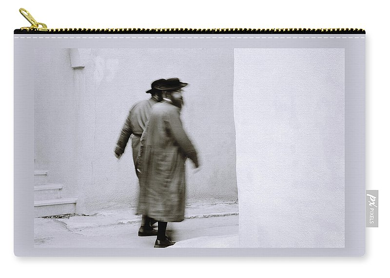 Jerusalem Carry-all Pouch featuring the photograph Jewish Life by Shaun Higson