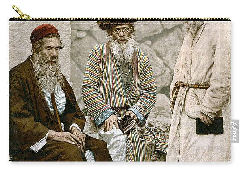 1900 Carry-all Pouch featuring the photograph Jews In Jerusalem, C1900 by Granger