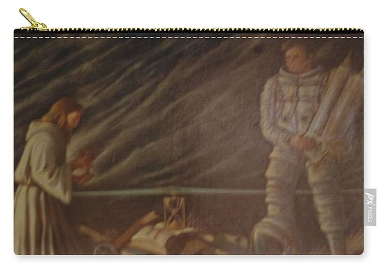 Jesus Carry-all Pouch featuring the photograph Jews In Space by Rob Hans