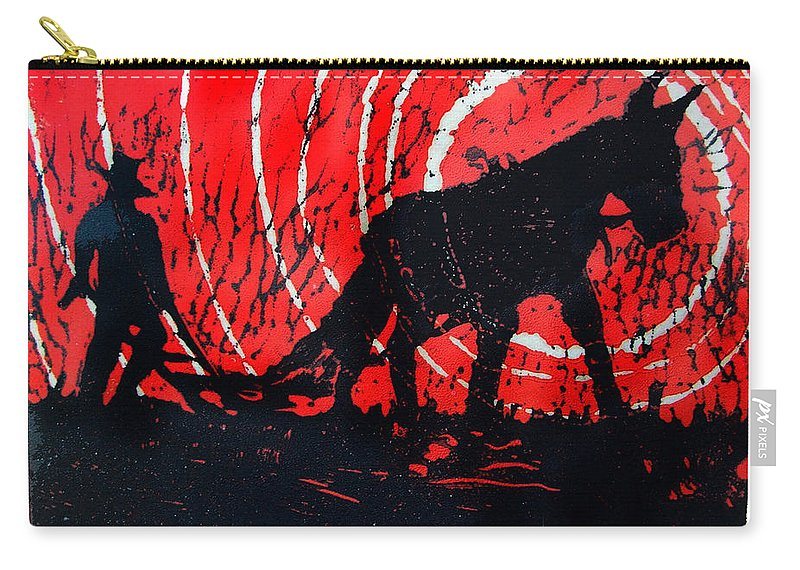 Jezebel And Me Carry-all Pouch featuring the relief Jezebel And Me by Seth Weaver