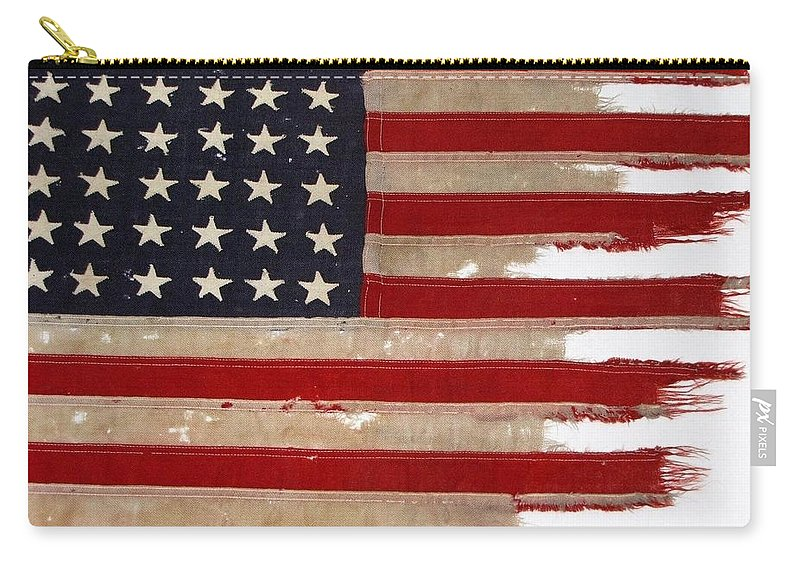 Flag Carry-all Pouch featuring the photograph Jfk's Pt-109 Flag by Lori Pessin Lafargue