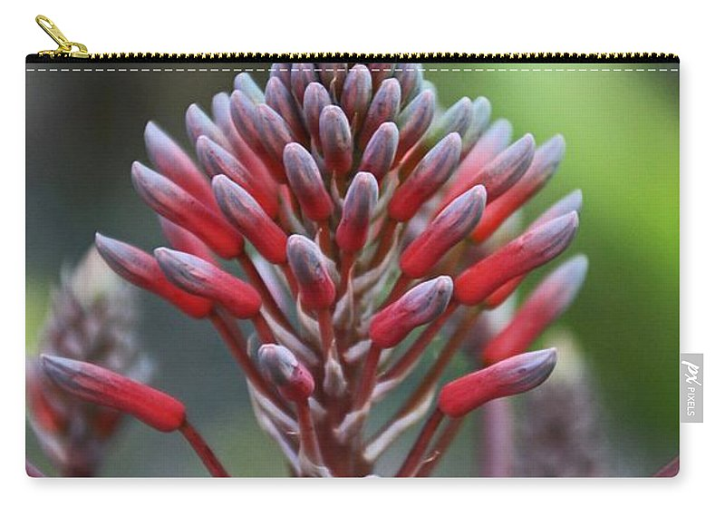 Purple Carry-all Pouch featuring the photograph Jilted In June- Vertical by Michiale Schneider