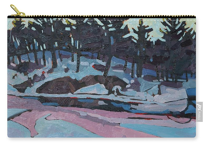 Jim Carry-all Pouch featuring the painting Jim Day Dawn by Phil Chadwick