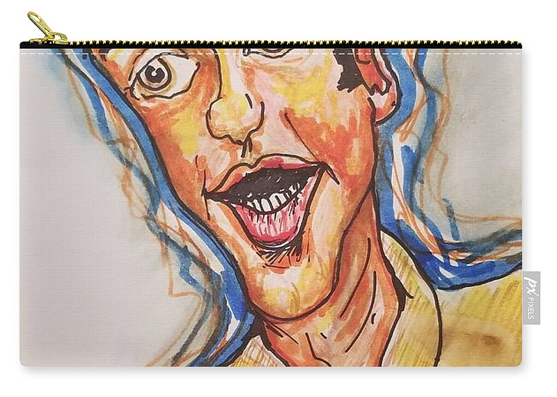 Jim Nabors Carry-all Pouch featuring the drawing Jim Nabors by Geraldine Myszenski
