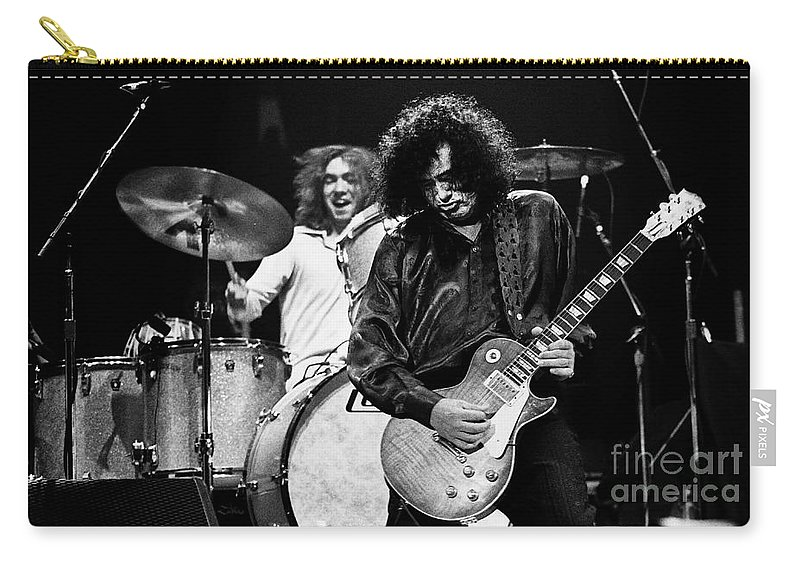 Robert Plant Carry-all Pouch featuring the photograph Jimmy Page-0057 by Timothy Bischoff