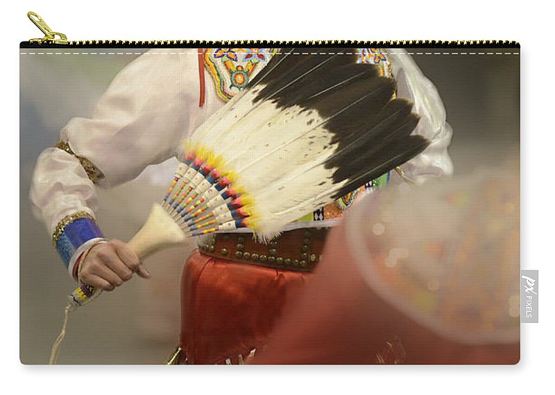 Pow Wow Carry-all Pouch featuring the photograph Pow Wow Jingle Dancer 1 by Bob Christopher