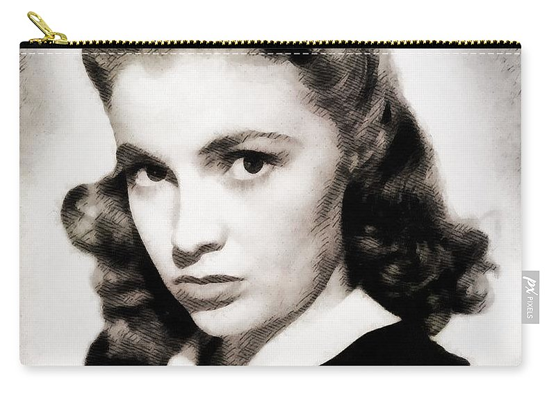 Hollywood Carry-all Pouch featuring the painting Joan Leslie, Vintage Actress by John Springfield