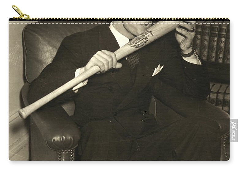 1941 Carry-all Pouch featuring the photograph Joe Dimaggio (1914-1999) by Granger
