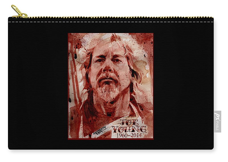 Antiseen Carry-all Pouch featuring the painting Joe Young - Antiseen by Ryan Almighty