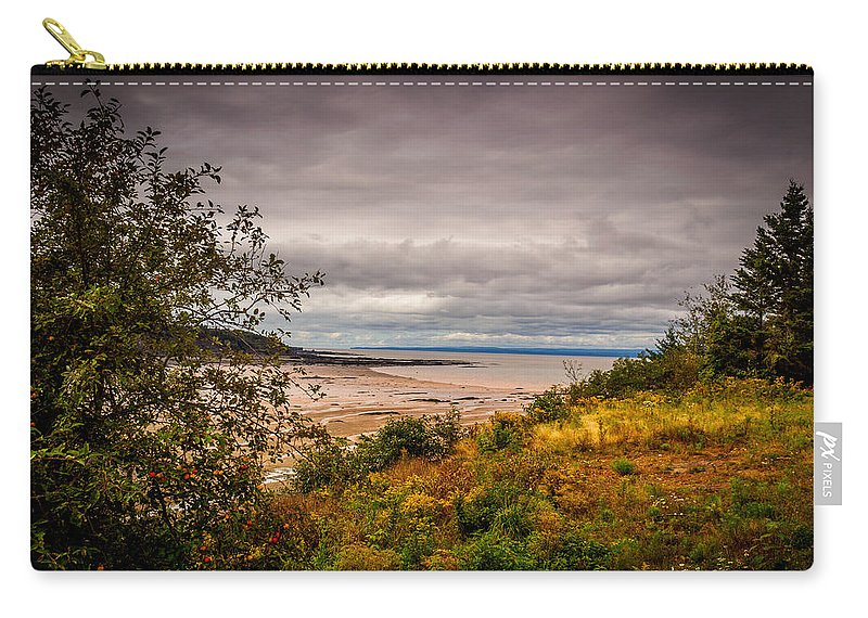 Canada Carry-all Pouch featuring the photograph Joggins Beach by Mark Llewellyn
