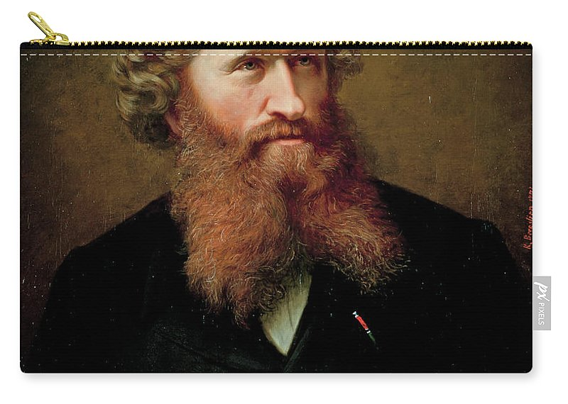 Knud Bergslien Carry-all Pouch featuring the painting Johan Fredrik Eckersberg by Knud Bergslien