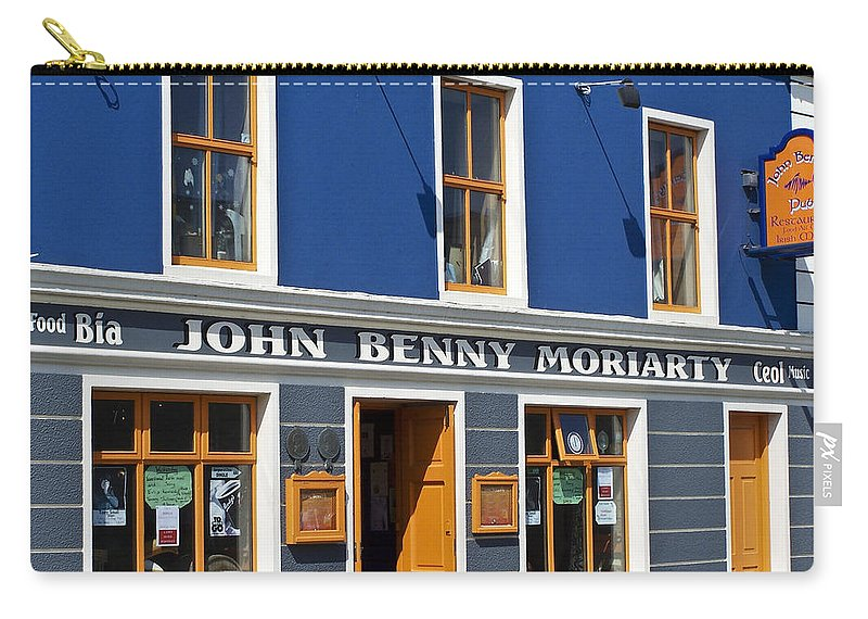 Irish Carry-all Pouch featuring the photograph John Benny by Teresa Mucha